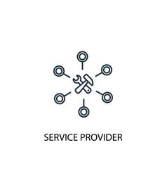 Service provider concept line icon simple element vector