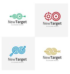 Set infinity target logo template creative vector