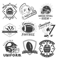 Set of rugby and american football labels vector