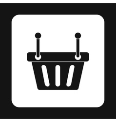 Shopping basket icon simple style vector