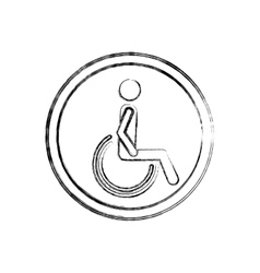 Silhouette blurred with person sitting wheelchair vector