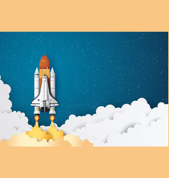 space shuttle taking off on a mission vector image