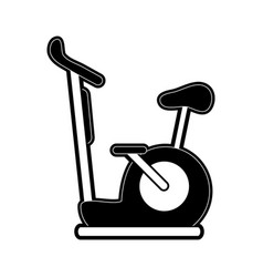 Stationary bike spinning sports related icon image vector