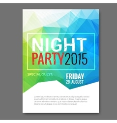 Summer Night Beach Party Flyer Template vector