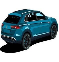 SUV WOLKSWAGON vector image