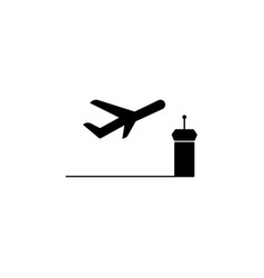 takeoff aircraft icon element of travel icon for vector image