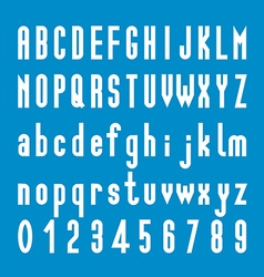 Tall Font Design Alphabet and Number vector image