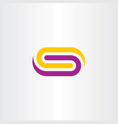 tech busies logo letter s purple yellow symbol vector image