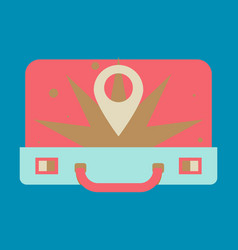 Traveksuitcase for camping tourism cartoon vector