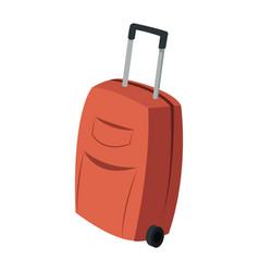 travel case wheel travel handle image vector image