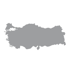 Turkey map on a white background vector