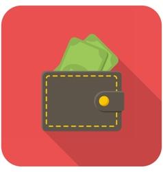Wallet icon vector image