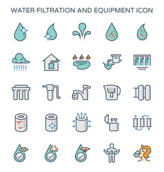 Water filtration icon vector