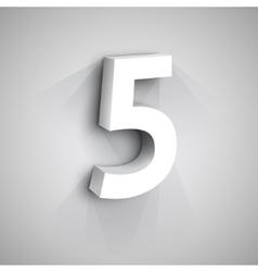 3d Number Five vector image vector image
