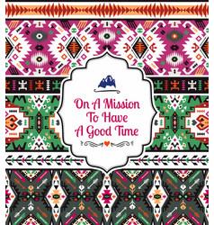 american tribal seamless pattern vector image