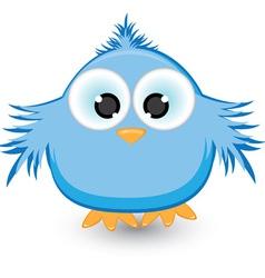 cartoon blue sparrow vector image
