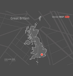 dotted greit britain map vector image vector image