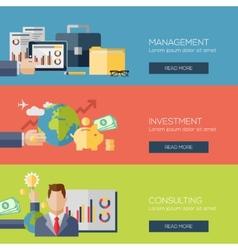 Flat design concepts for management investment vector image vector image