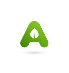 letter a eco leaves logo icon design template vector image vector image