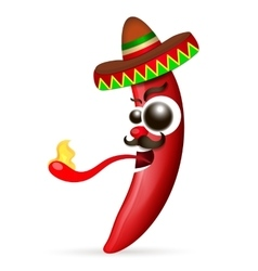 Mexican red hot chili pepper vector image vector image