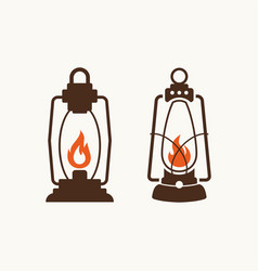 set of lamps for logo vector image vector image