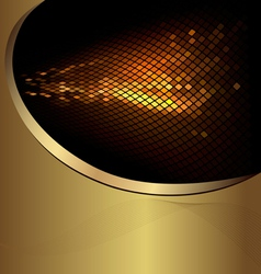 abstract gold business background vector image vector image