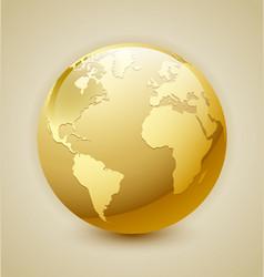 Golden Earth icon vector image vector image