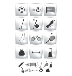 set icons Sport and soccer vector image