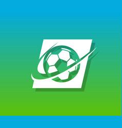 Soccer logo icon vector