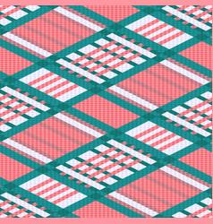 tartan seamless rhombus texture in light colors vector image