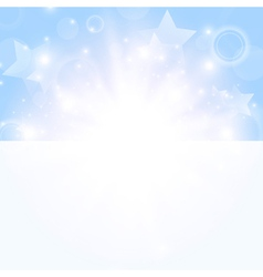 bright day background with stars vector image vector image