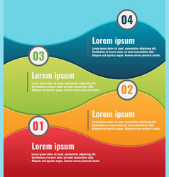 curve color info graphic template vector image vector image