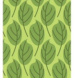 Leaves seamless pattern background of green plants vector image