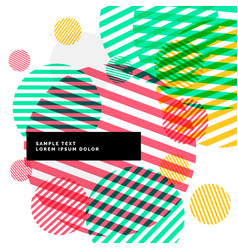 abstract colorful circles stripes background vector image vector image