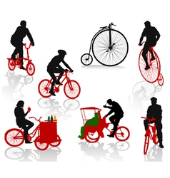 bicycles vector image vector image