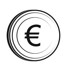 Euro icon simple style vector image vector image