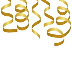 Golden party streamers Carnival serpentine vector image