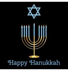 Jewish Holiday Happy Hanukkah card design vector image