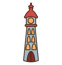 Lighthouse beach isolated icon vector
