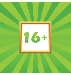 16 plus picture icon vector image