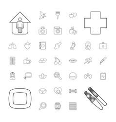 37 health icons vector
