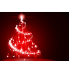 Abstract Lightning Christmas Tree vector