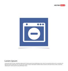 Application window interface icon - blue photo vector