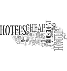 Are there any good cheap hotels text word cloud vector