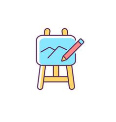 Art rgb color icon vector