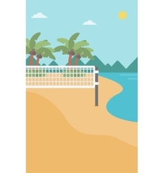 Background of beach volleyball court at seashore vector