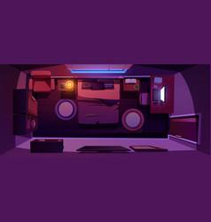 Bedroom interior top view dark empty home or hotel vector