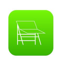 blank portable screen icon digital green vector image