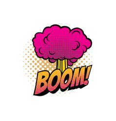 Boom cloud cartoon comic book sound blast vector