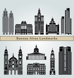 buenos aires v2 landmarks vector image